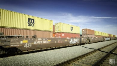 A photograph of intermodal containers.