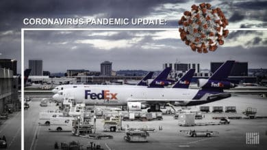 FedEx planes on the ramp.
