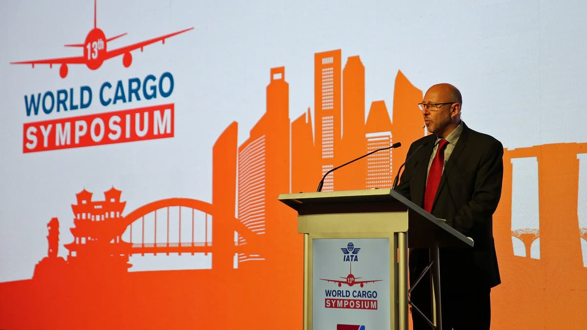 Speaker at air cargo conference