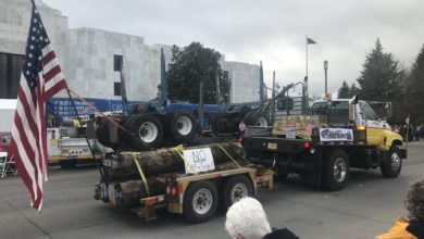 Photo of Climate legislation protests in Pacific Northwest spotlight activist trucking group