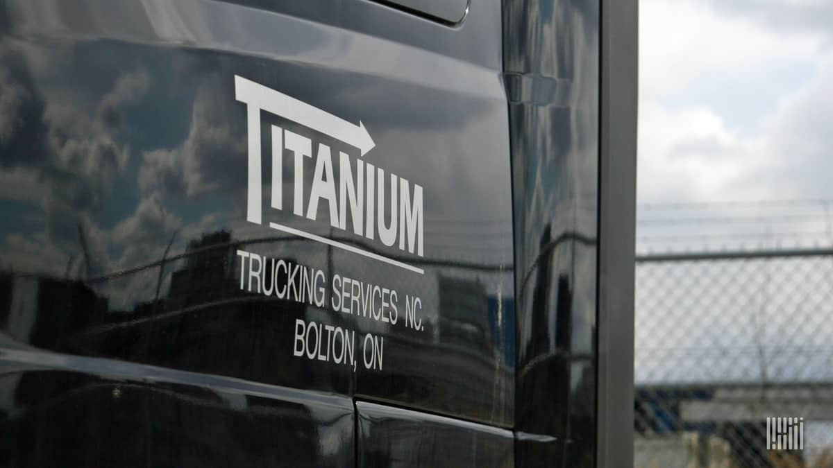A power unit from Titanium Transportation Group