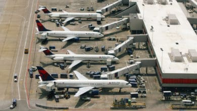 Delta planes at the gate.