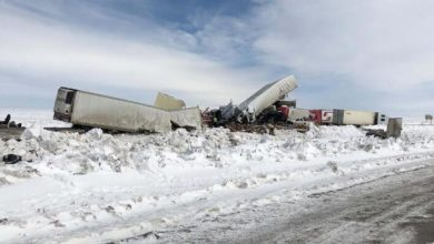 Photo of Tractor-trailers involved in deadly weekend crashes in Wyoming