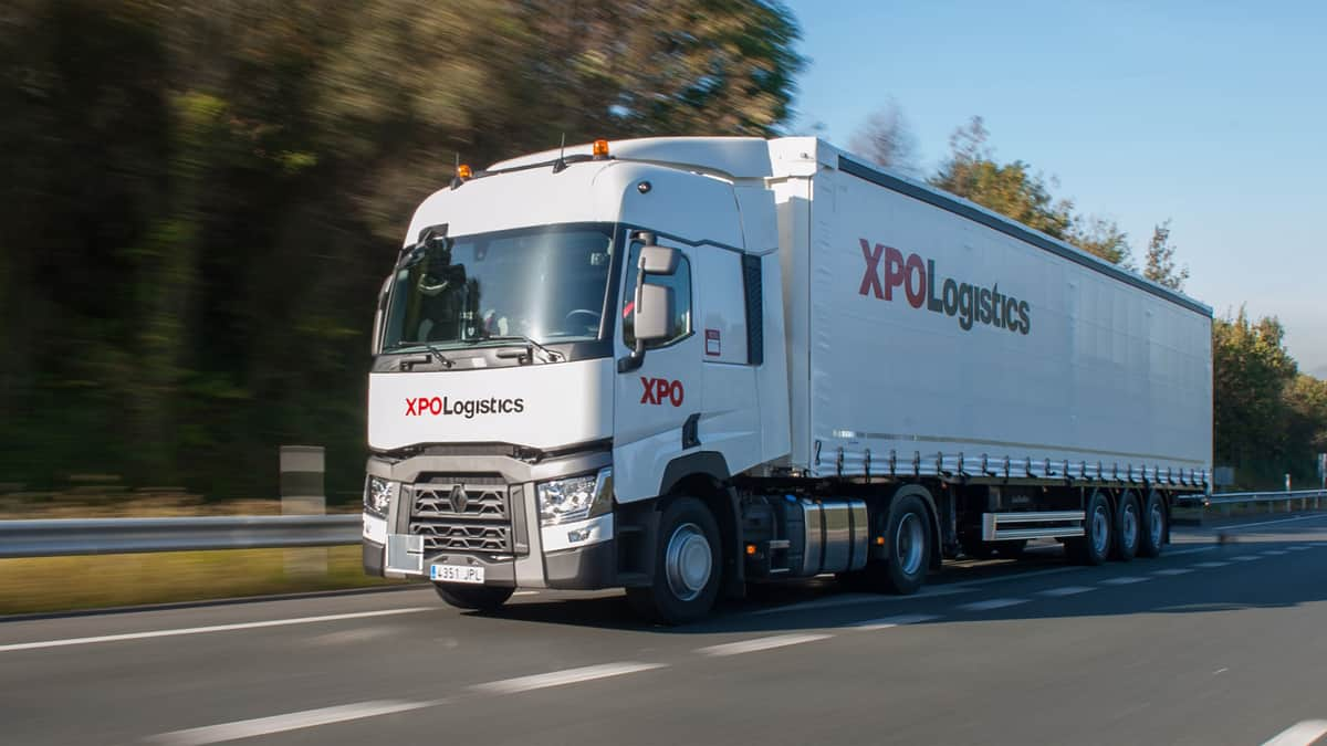 XPO Logistics European truck on highway