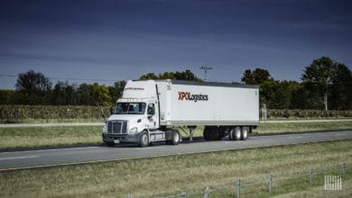 XPO truck on highway