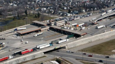 The U.S.-Canada border crossing at the Bluewater Bridge linking Michigan and Ontario. (Photo: U.S. Customs and Border Protection)