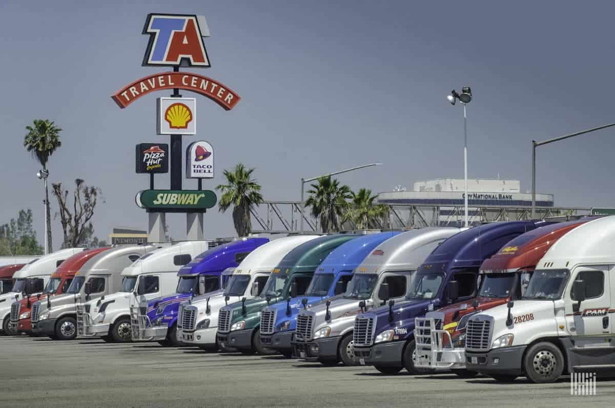 Truck Stop Rest Stop Update Ta Says Diesel Volumes Are Elevated Freightwaves