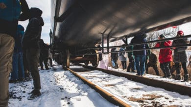 A rail blockade in Canada.