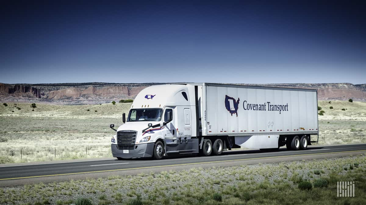 Covenant truck on highway