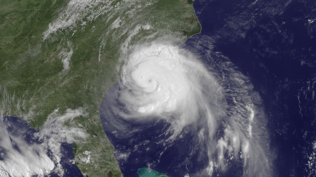 Satellite image of Hurricane Arthur off the U.S. Southeast Coast, July 2014.