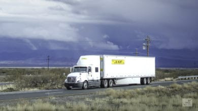 J.B. Hunt truck on road