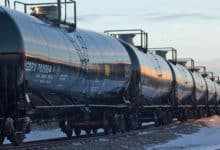 Greenbrier tank cars on track
