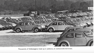 Photo of FreightWaves Flashback 1974 — JAX mini-bridge speeds delivery of 7,000 West Coast-bound VWs
