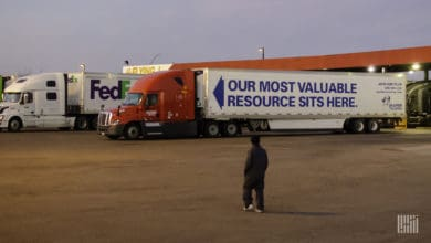 "Fleet technology helps truckers ""socially distance"" on the job (Photo: Jim Allen/FreightWaves)"