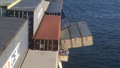 Photo of Overboard container loss investigation underway