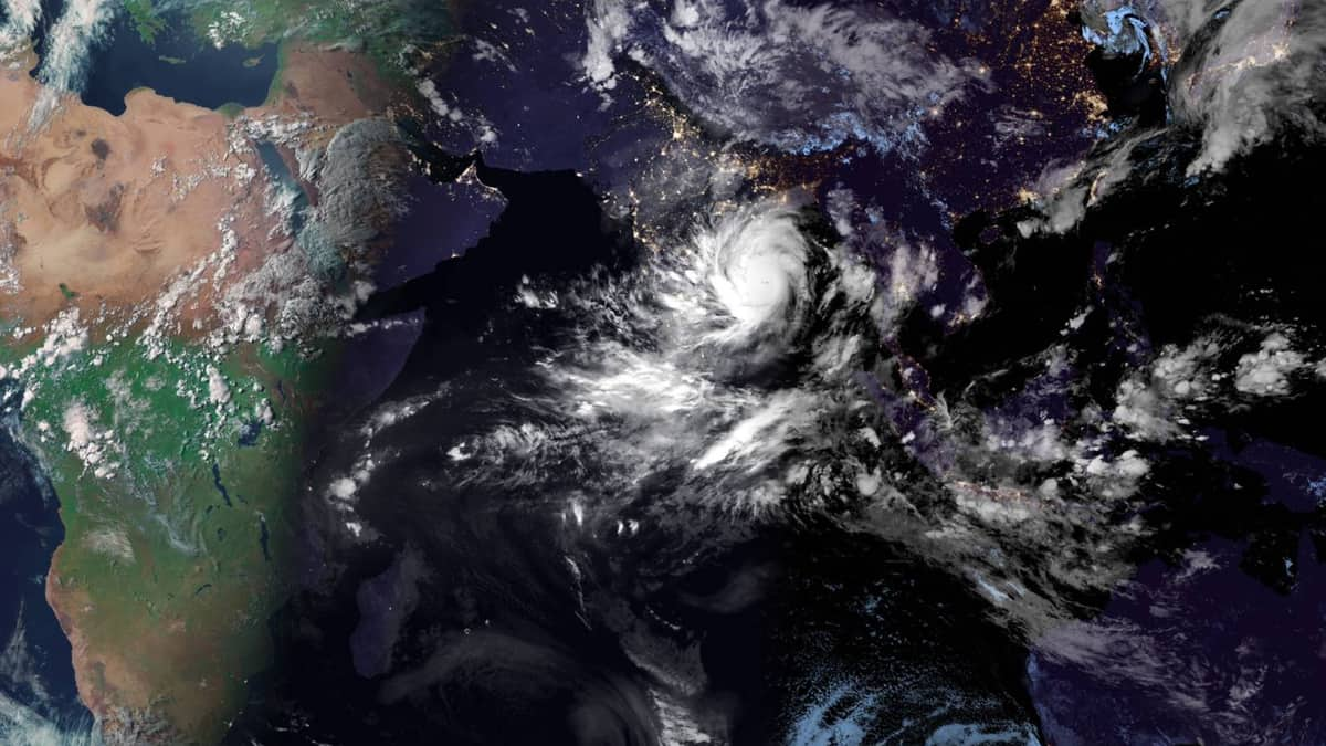 Satellite photo of Cyclone Amphan.