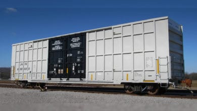 A photograph of a railcar.