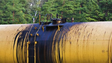 A photograph of the top of a tank car.