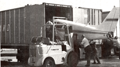 Photo of FreightWaves Flashback 1973: Piper Aircraft delivers its planes in 40 ft. containers
