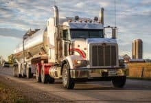 A tractor-trailer from Joseph Haulage Canada