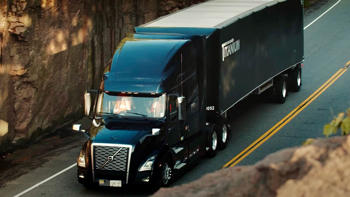 A tractor-trailer of Titanium Transportation Group