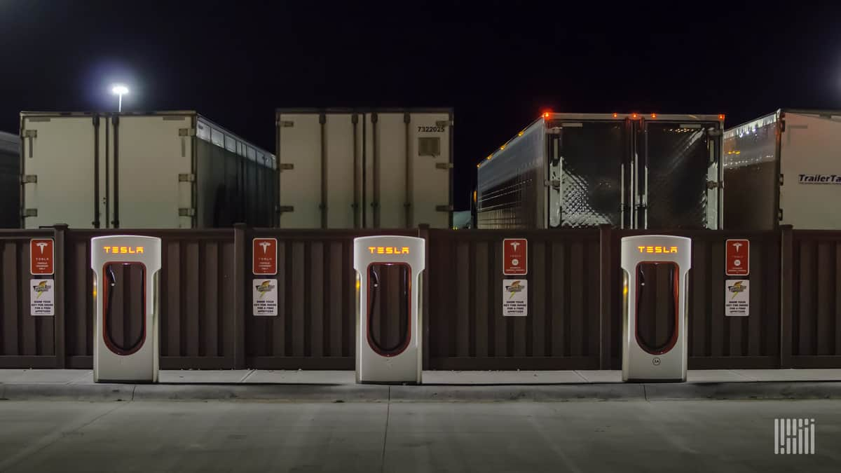 CHarging stations and trucks