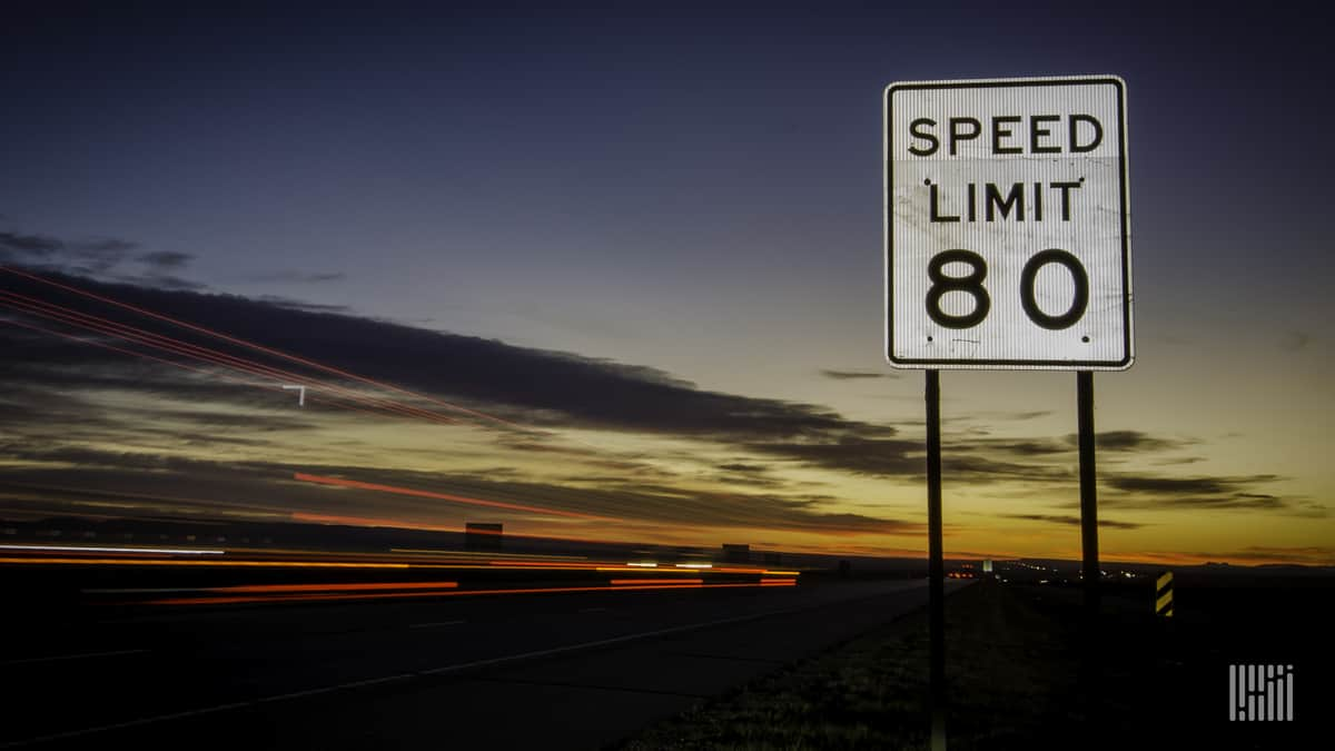 80 mph highway sign