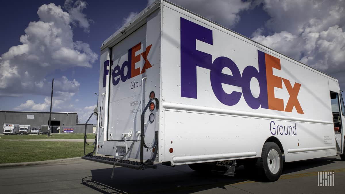 A FedEx Ground truck.