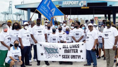 Photo of Longshore unions across nation pay tribute to George Floyd