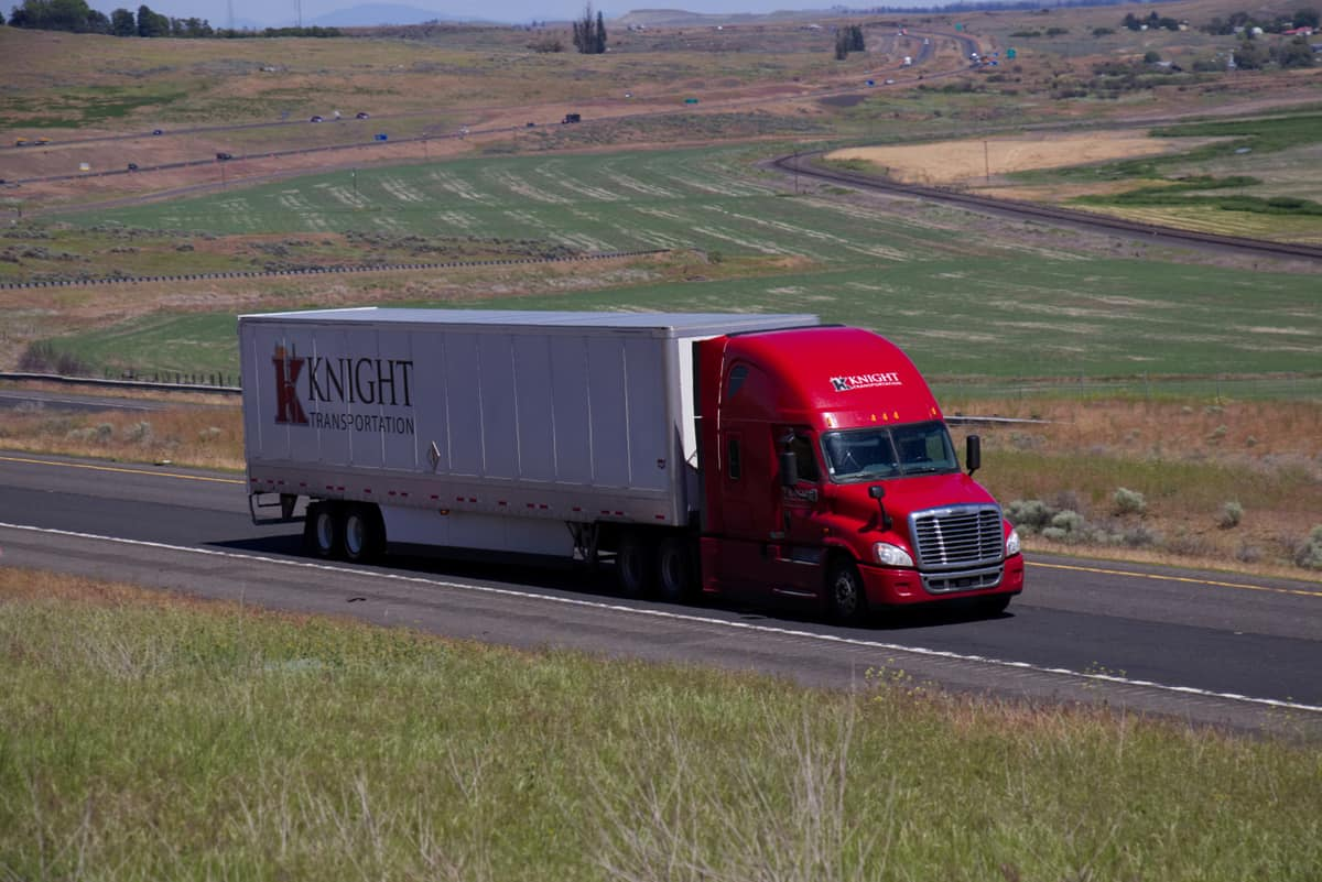 Knight truck on the road