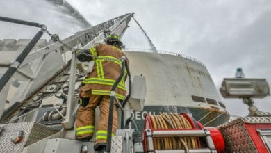 Photo of JAXPORT car carrier fire contained but not out