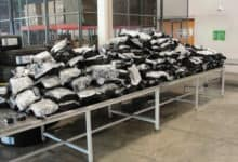 Bags of marijuana seized by U.S. Customs and Border Protection Officers from a truck hauling garbage at the Canada-U.S. Border. Drug seizures at the border on the rise.