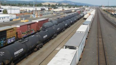 Railcars at a yard