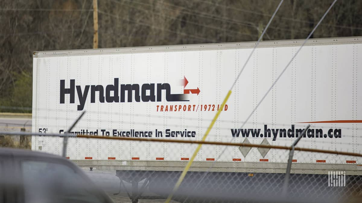 A trailer of from Celadon Group's Hyndman Transport. Former Hyndman drivers have begun receiving payouts from the federal government.
