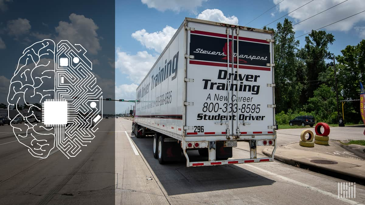 Driving a truck is a transfer of knowledge and skills by humans (at least now).