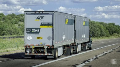 ArcBest double moving down highway