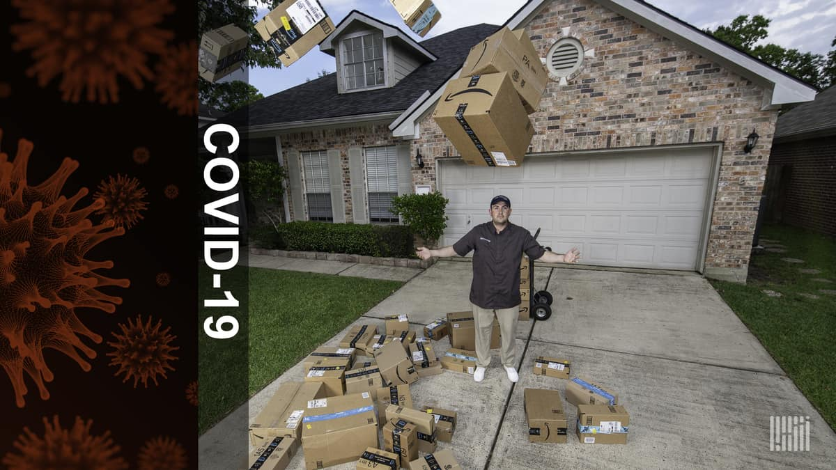 COVID-19 has managed to wreck the delivery economy (Photo: Jim Allen/FreightWaves)