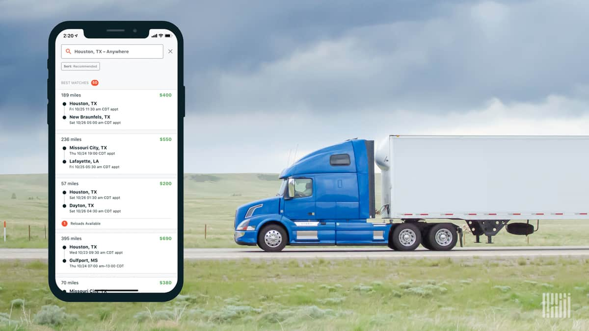 Convoy spot rate benchmarking for shippers