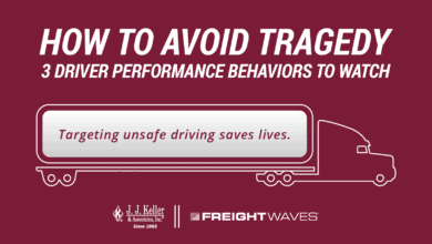 Photo of J. J. Keller and FreightWaves Infographic: How to Avoid Tragedy