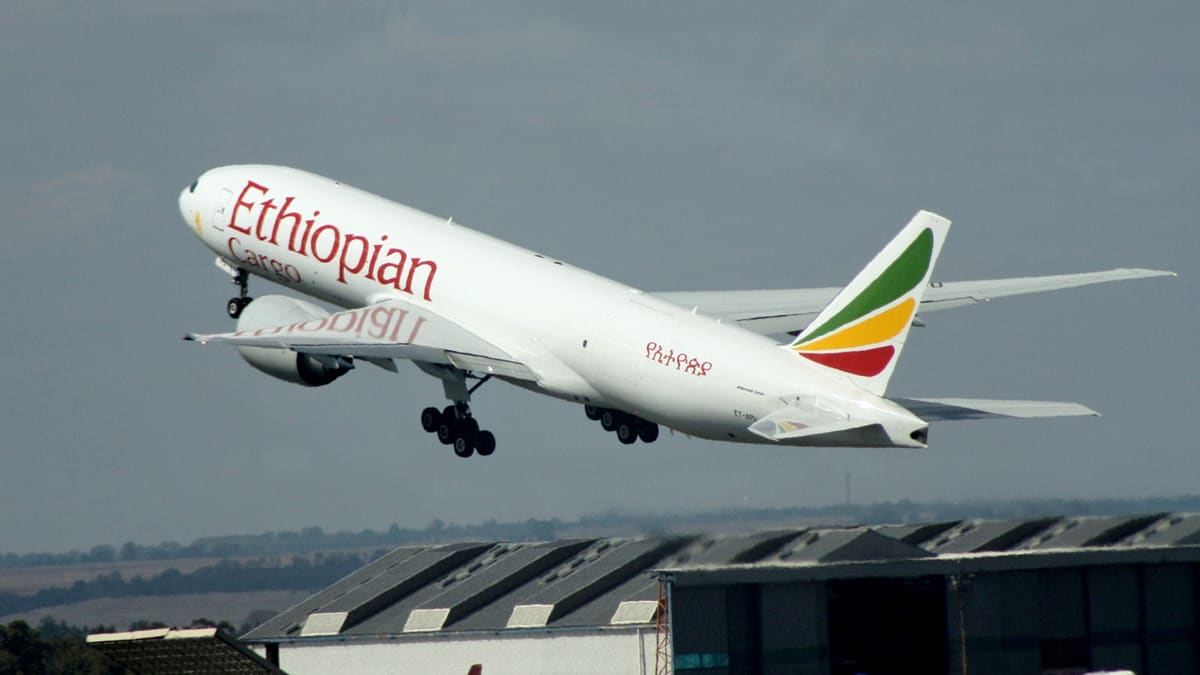 Ethiopian Airlines freighter