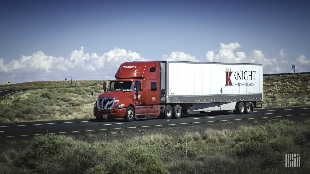 Knight-Swift truck on highway
