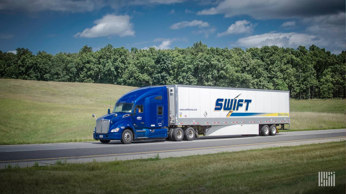 Swift truck on highway