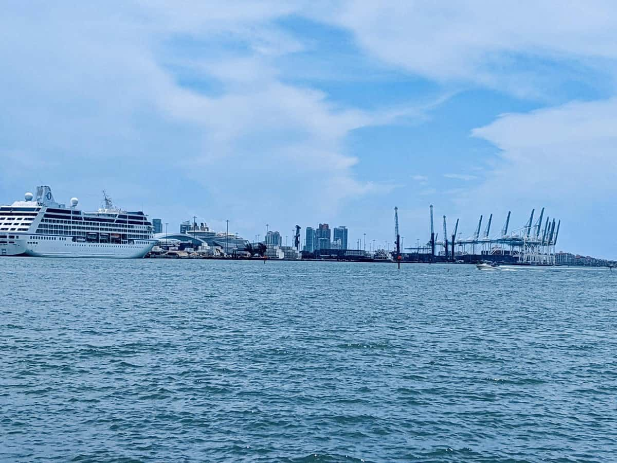 Cargo terminals at PortMiami on July 7, 2020.