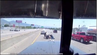 Photo of Truckers assist Utah Highway Patrol in dramatic video