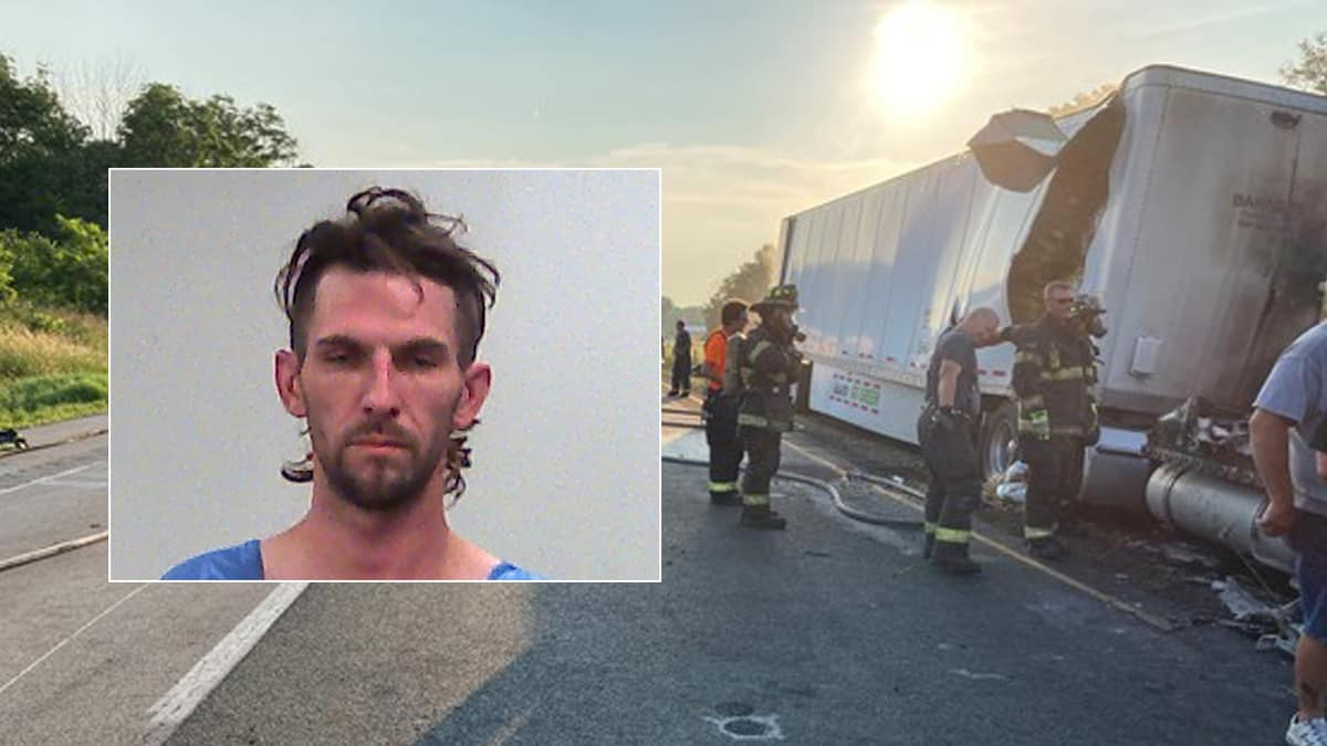 Corey Withrow arrested after fiery crash on I-70