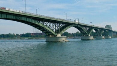 A view of the Peace Bridge, where U.S. Customs and Border Protection officers seized $20 million worth of marijuana from a truck that had crossed from Canada.