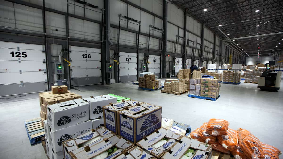 A view from inside a Walmart distribution center. Walmart Canada is adding two distribution centers as part of a larger investment.