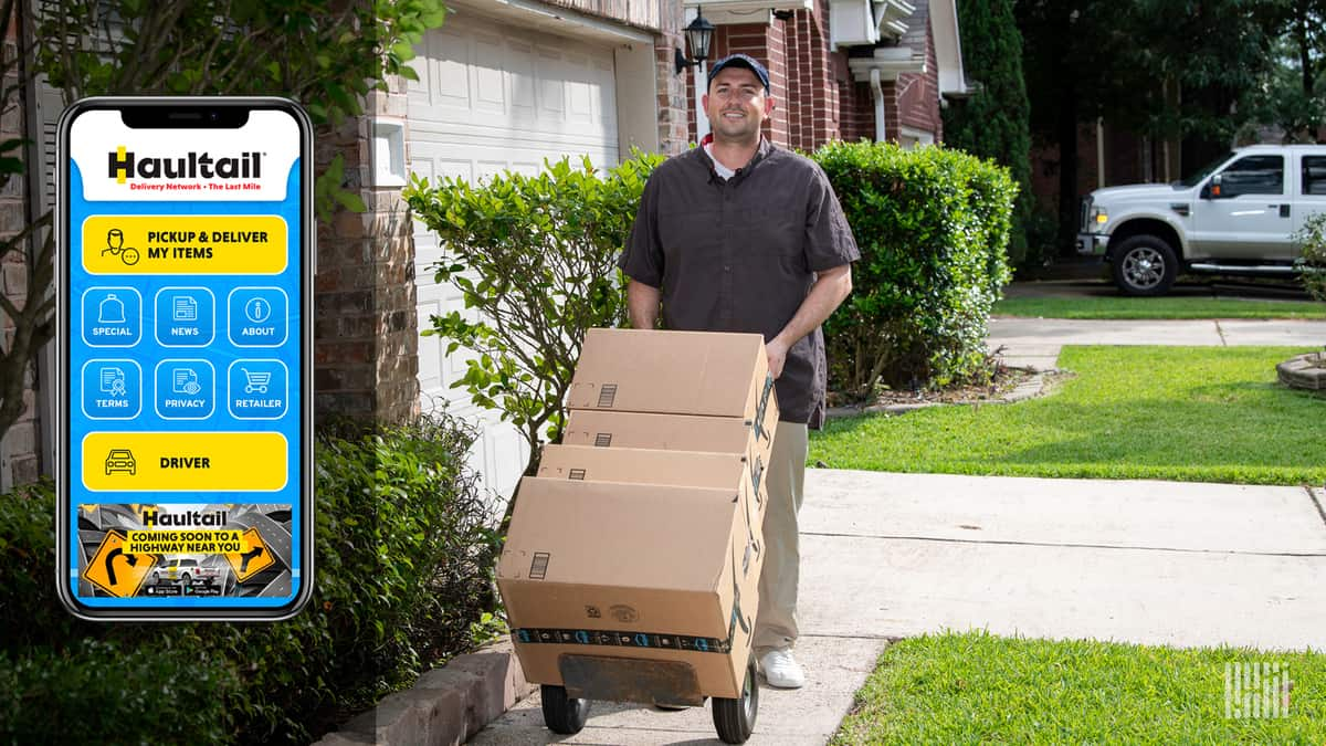 Delivering envelopes to refrigerators, all in a few hours (Photo: Jim Allen/FreightWaves)