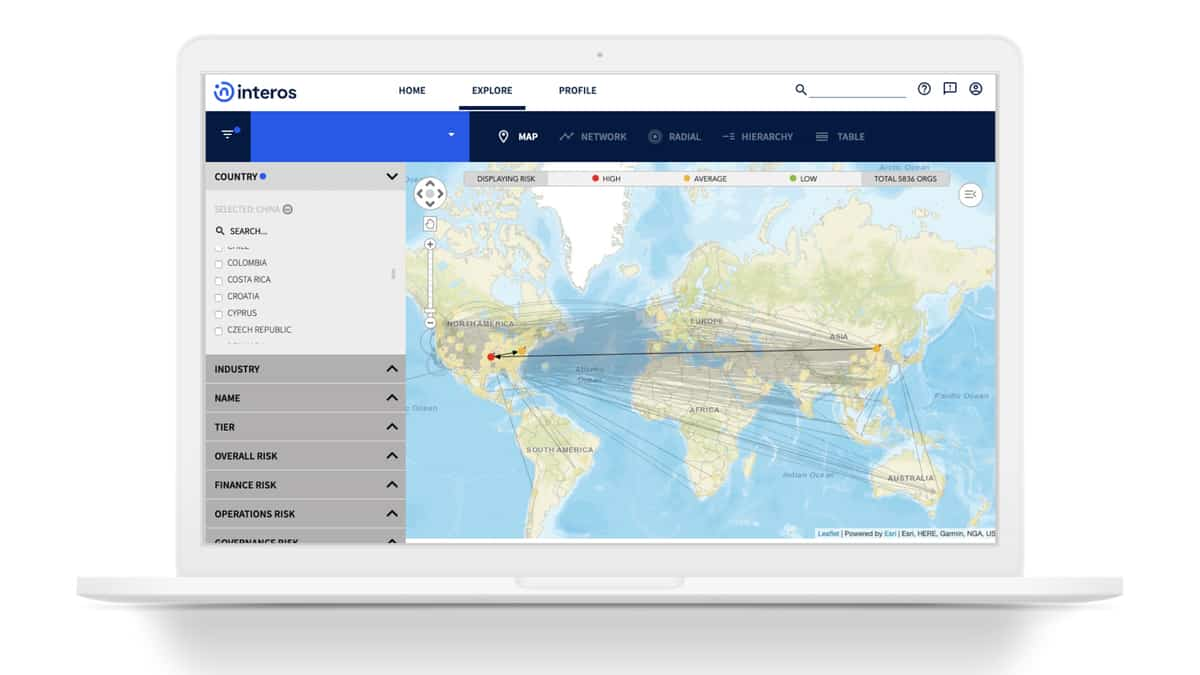 Interos helps companies realize and act on their supply chain risk (Photo: Interos)