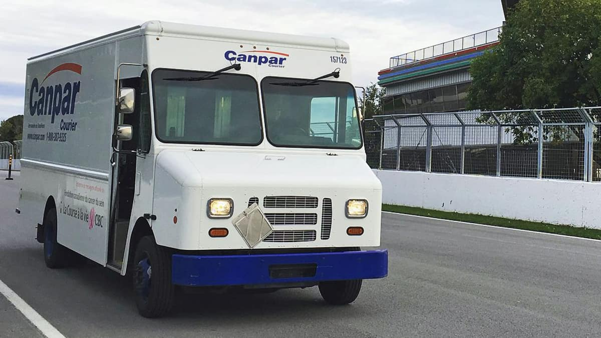 A delivery vehicle of Canpar Express. It was among the four TFI International courier divisions hit by a ransomware attack.